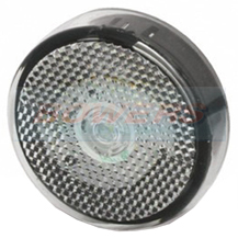 Jokon PLR60 11.1023.000 Caravan Motorhome LED White Front 60mm Round Marker Light Lamp